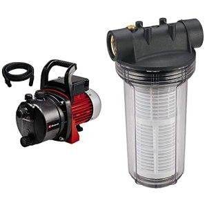 Einhell Kit Pompe d'arrosage de surface GC-GP 6538 Set (650 W, Hauteur de refoulement 36 m) & Filtre Anti-sable 25 cm pour pompe à eau, avec cartouche (filetage laiton, 2 raccords de connexion R1)
