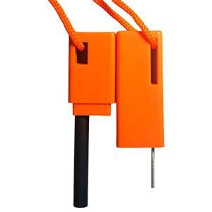 Ensemble de bâtons de feu portable orange pour aventures en plein air.