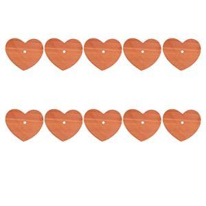 EXCEART 10 Pièces Chic Mode Coeur Forme Copeaux De Bois De Cèdre Cèdre Aromatique Coeur Blocs pour Les Vêtements De Stockage Parfumé Bloc Coeur Forme Cèdre Anti- Mites Garde- Robe Cèdre