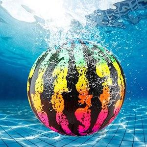 Faffooz Ballon De Plage Melon Ballon de Plage pastèque Ballons de Plage gonflables Gonflable Piscine Balle Jouet Extérieur pour Adultes Enfants Jeux de Plein air Jeu d'eau et de Plage