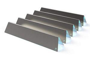 fexon Rails aromatiques en acier inoxydable V2A 1,5 mm   Répartiteur de flamme   Tôle de flamme   Flavorizer Bars   Couvercles de brûleur pour Weber Spirit 310/320/330 à partir de 2013 (5 pièces) 7636
