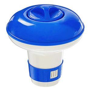 Finetoknow Flottant Chlore Brome 5/8/10 Pouces boîte à médicaments Flottante Tablette Piscine Spa Distributeur réservoir