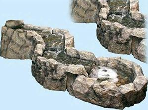 Fontaine de jardin en polyrésine pour décoration de extérieure et de jardin – Zen effet pierre