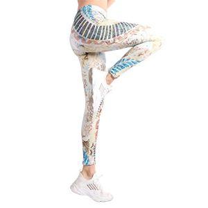 Fulltime® Pantalons de Yoga, Pantalons de Sport pour Femmes imprimant des Leggings de Fitness Extensibles Taille Haute Pantalons de Yoga (Style A)