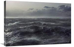 Global Tempête de Vent au-Dessus de l'océan dans Le chenal Beagle, Tierra Del Fuego, Argentine-Toile Art-30″x20″
