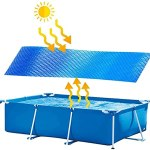GWAY Bâche de piscine solaire pliable protection UV bulle isolation thermique film cadre piscine piscine piscine familiale piscine sol piscine piscine piscine sol piscine (rectangulaire, 300x200cm)