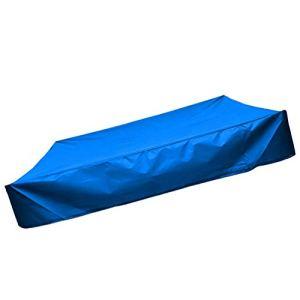 Holibanna Couvercle Carré du Bac à Sable Jardin Bac À Sable Couverture Jardin avec Cordon Sandbox De Couverture pour Enfants Petite Baignoire Couverture (Bleu 150X150cm)