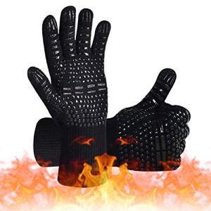 IYOYI Gant Four, Gant Anti Chaleur, Gant Barbecue 800 °C Gant pour Four Anti Chaleur Silicone Résistant à Chaleur et Antidérapant pour la Cuisine / Pâtisserie / Barbecue