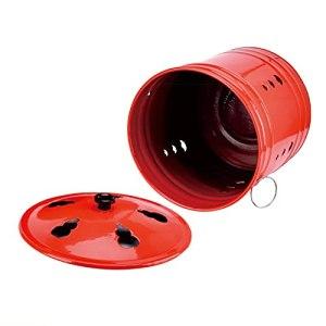 JUNKUN Incinérateur portatif de Baril brûlant d'acier Inoxydable approprié au brûlage d'ordures et de Feuilles Mini incinérateur de déchets Rouges