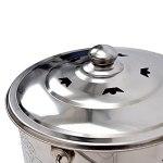 JUNKUN Incinérateur portatif de Baril de Combustion d'acier Inoxydable Poubelle d'incinérateur de Baril de Combustion d'acier Inoxydable avec la Doublure galvanisée et Le Support de Grille
