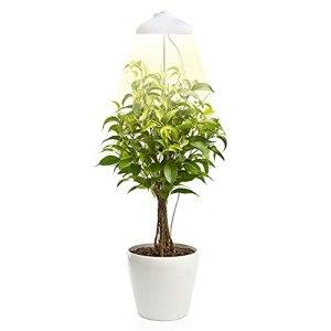 Lampe LED de croissance – Lampe de plante Déco – Idéal pour Plante Intérieure – Eclairage horticole avec LED pour culture indoor – Taille ajustable, Timer automatique, 5V, Blanc