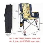 Lihuzmd Chaises de Camping Pliantes,Le Cadre en Acier Pliable supporte jusqu'à 150 kg de Structure Lourde, avec Porte-gobelet, Chaise d'extérieur,Marron,58x58x90cm