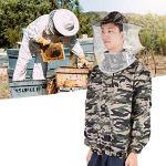 LIUTT Costume de Veste d'apiculture à Double Fermeture éclair avec Protection en Maille de Voile pour Le kit d'apiculture d'apiculteurs débutants