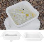 LIUTT Tamis de Filtre à Miel de qualité Alimentaire à Double Couche, Outils d'équipement d'apiculture, kit d'apiculture
