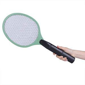 Longzhuo Bug Zapper Électrique Moustique Swatter Tueur de Mouches Filet à Trois Couches Rechargeable USB Fly Zapper Raquette Électrique Bug Moustique Swatter pour Intérieur et Extérieur(Vert)