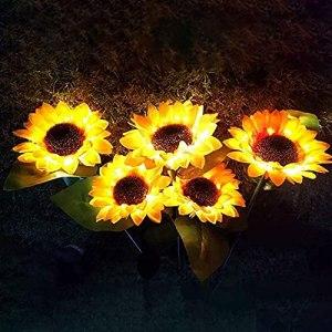 Lpydhfc Paquet De 4 Lampes Solaires De Jardin À LED en Plein Air, pour Le Jardinage, pour Le Jardinage, Les Décorations De Brousse De Noël