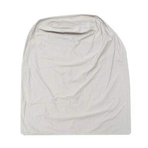 LUYOYO Housse de protection imperméable en vinyle pour meubles de jardin, terrasse, chauffage, protection contre la neige et la poussière, couleur : kaki, gris, noir (kaki)