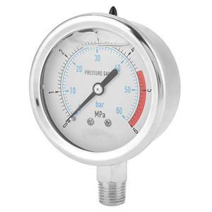 Manomètre, manomètre d'air, boîtier extérieur en métal, pour spas spas piscines