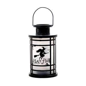 Mobestech Halloween Lanterne Halloween LED Lampe de décoration pour fête (grand format, sorcière)