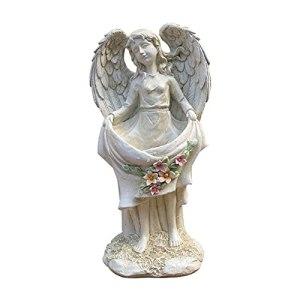 MYYINGBIN Ailes en Résine Jardinière De Pot De Fleur d'ange, Statues De Fées Figurines De Collection, Ornements De Statue d'art De Déesse Rétro De Jardin