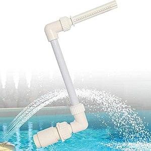 NC Fontaine de piscine – Accessoires de natation – Couleur blanche – Cascade – Décoration réglable – 26 x 40 x 19 cm