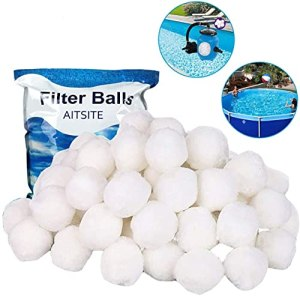 On and Off Filter-01 Filtreball Sable, balles 700g, Peut remplacer 25 kg Convient au système Filtre de Piscine (Blanc), White