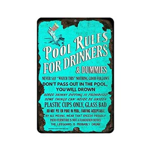 Panneau d'avertissement pour les règles de la piscine – Facile à installer