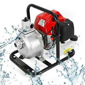 Pompe à eau à moteur à essence 2 temps pompe de transfert d'eau 8000 l/h, Pompe à Eau pour moteur 1.7hp 43cc, Pompe de bassin Pompe de jardin piscine