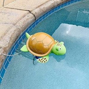 Purificateur d'eau pour piscine – Accessoires de nettoyage – Tête de tortue flottante – Purificateur d'eau chaude