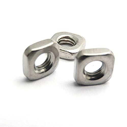 PZZZHF 100pcs Mince écrou carré M3 M4 M5 M6 M8 Noix carrées DIN557 A2 304 Blocs d'écrous Minces en Acier Inoxydable DIN562 Métrique de Type Mince (Color : DIN562-Thin Type, Size : M8)
