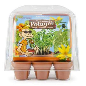 Radis et Capucine – Mini Serre plastique recyclé – Mon premier Jardin