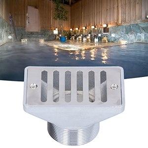 SALALIS Sortie d'eau de Piscine, matériau en Acier Inoxydable Sortie de trop-Plein d'eau de Piscine pour piscines Sources Chaudes pour spas et Autres lieux