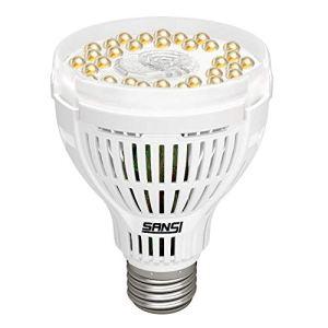 SANSI Lampe de Plante LED à Spectre Complet 15W E27,Lampe Horticole Blanc Lumière du Jour Lampe de Croissance à Cycle Complet