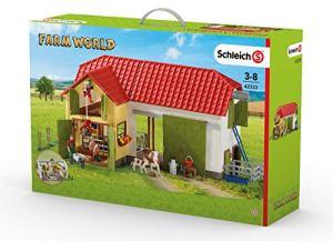 Schleich – 42333 – Grande Ferme avec Animaux Et Accessoires –