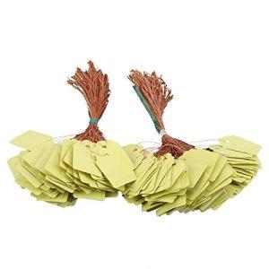 SHYEKYO Étiquettes de Plantes, marqueur de Pot d'étiquettes de Fleurs suspendues 200 pièces réutilisables pour marquer Les Plateaux de semences pour Les Pots(Yellow)