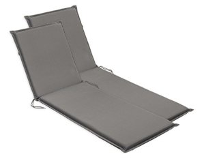 sleepling 193935 Lot de 2 Coussins d'extérieur pour chaises Longues, 190 x 75 x 6 cm, Gris Anthracite