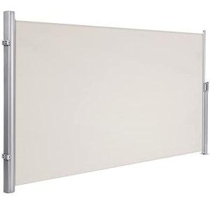 SONGMICS 180 x 350 cm (H x L) Store latéral pour Balcon, Terrasse, Brise-Vue Pare-Soleil Beige GSA185E