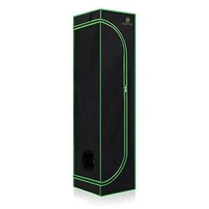 Strattore Chambre/Tente de Culture 40x40x160 cm – hydroponique Serre de Culture intérieur Box avec Fenêtre – Grow Tent Grow Box Toile résistante à la lumière Étanche et aux déchirures – en Noir Vert