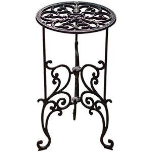 Sungmor Support en fonte pour plantes en pot de 40,5 cm – Pot de fleurs décoratif en métal – Style vintage et rustique – Pour intérieur et extérieur