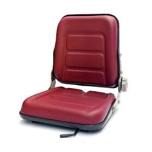 TABODD Siège de chariot élévateur en PVC avec dossier réglable à 140°, siège de tracteur pour véhicules agricoles, rouge