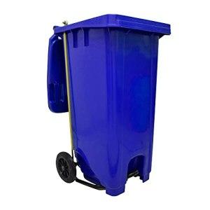 Tecnol Urban Poubelle bleue avec roues et pédale automatique 120 l