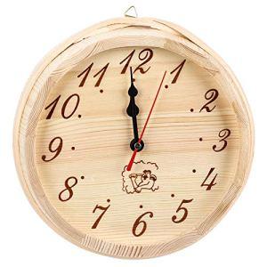 Tenpac Horloge de Sauna, Horloge Ronde sans Couvercle, Style Simple Suspendu léger pour la Maison de Salle de Sauna