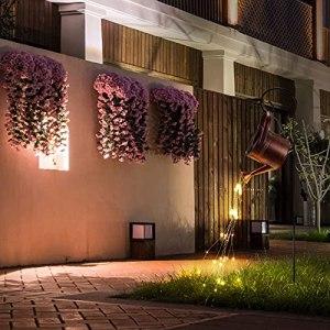 TiooDre Guirlande lumineuse à LED pour décoration de jardin – Étanche IP65 – Pour terrasse, porche, pelouse, cour, jardin (support inclus)