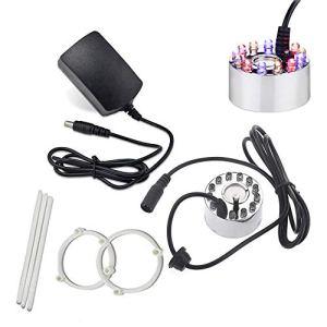 Ultrasonic Mist Maker Fogger Air Humidifier 12 LED Fontaine Fontaine Étang avec Adaptateur Secteur Argent