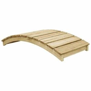 WELLIKEA Pont de Jardin 170×74 cm Pin imprégné