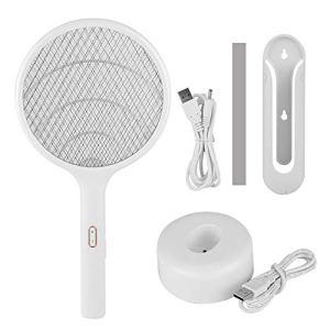 WLGOLD Tapette à moustiques, ménage sans Fil LED USB Rechargeable électrique tapette à Moustique Mouche Insecte Chauve-Souris Tueur de Raquette