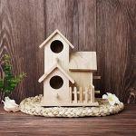 Yncc Nichoir à Oiseaux en Bois,Nichoir/Refuge pour Oiseaux Pouvant,Cabane à Oiseaux en Bois,Nichoir pour Oiseaux Exterieur