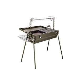 YUTAO Gril de Barbecue, Gril Multifonction extérieur, Gril, Gril épais, Gril Rotatif et sans fumée, Rangement Portable et Pratique
