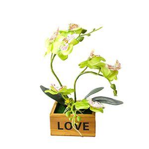 YWRD Plantes Artificielles en Pot en Plastique Plantes Synthétiques Table Décoration Plantes Décoratives Plante en Pot Intérieur Bureau Décor Green