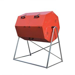 ZDYLM-Y Composteur de Jardin Rotatif, Gobelet à Compost, bac à Compost de Grande capacité Rotatif à Double Compartiment pour Jardin extérieur,125L